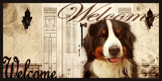 Bernese Mountain Dog_Welcome sign 2 v2