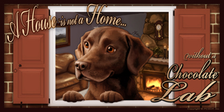Chocolate Lab 2_House Home sign 2