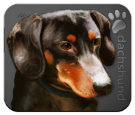 Dachshund_Dog Mouse Pad colors coal