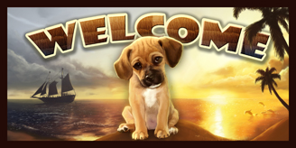 Puggle_Summer Welcome sign