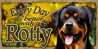 Rottweiler_Every Day Flowers sign